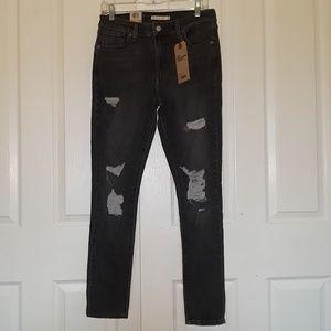 Nwt Levi's 721 High rise distressed skinny jean